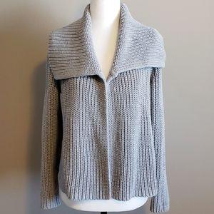Talbots Petites 100% cotton cardigan Medium Gray